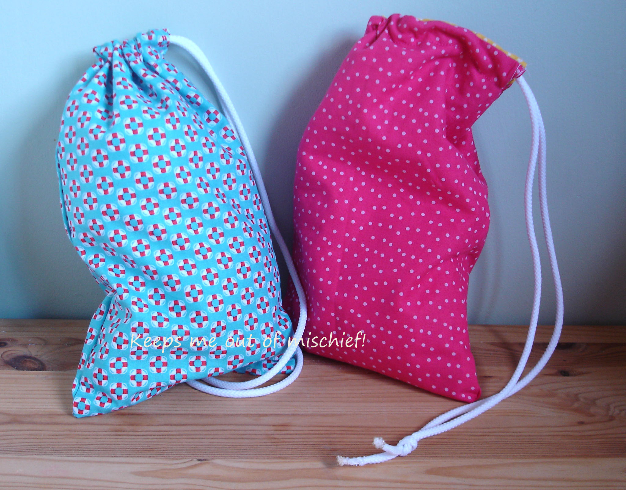 Project Three: Drawstring Bags | Keeps Me Out Of Mischief!