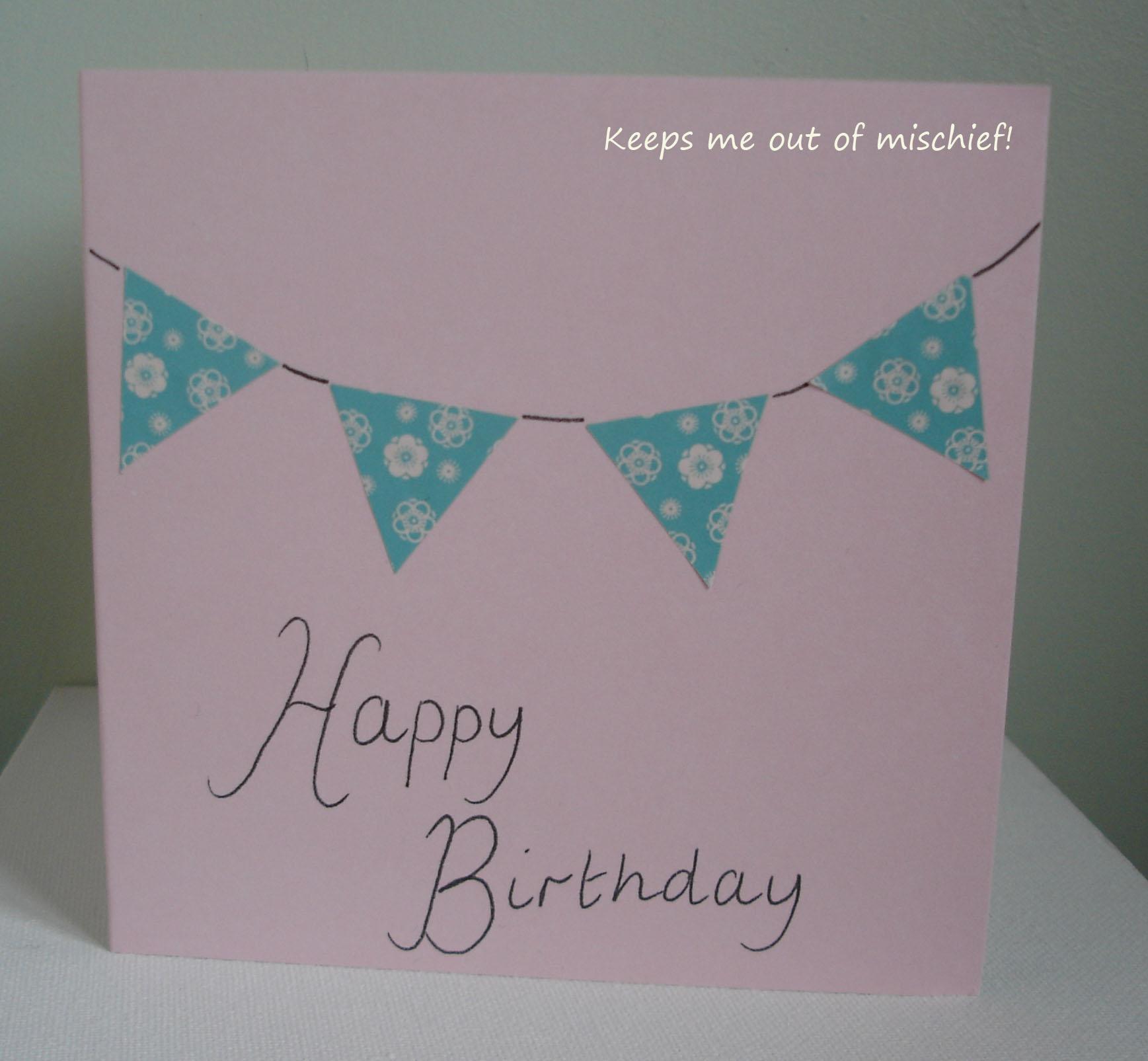 Birthday Card Handmade on Blank Calendar Template 1737