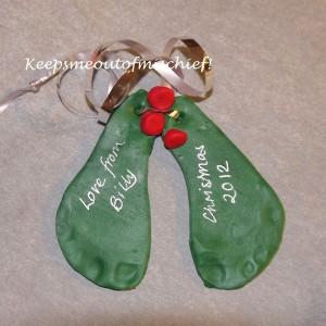 Christmas Holly Feet