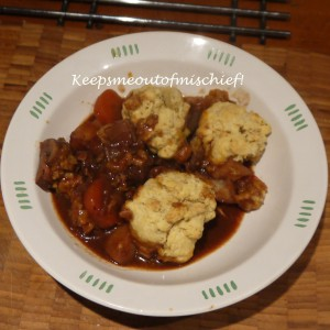 Beef Casserole with Herby Cheese Dumplings
