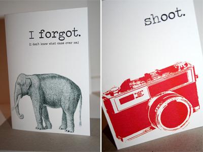 Twice Designs elephant card