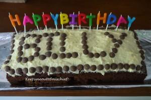 Billy's first birthday cake