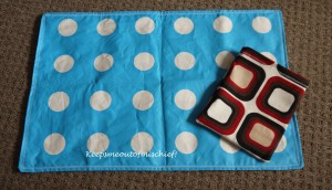 Retro Travel Nappy Mat