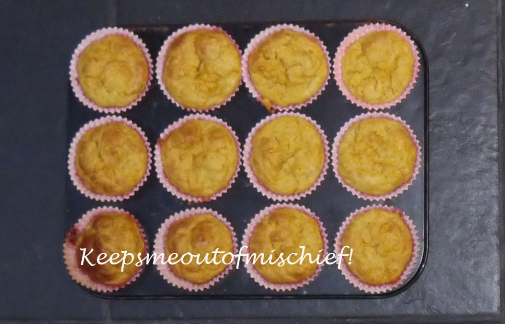 Carrot and Pesto Muffins