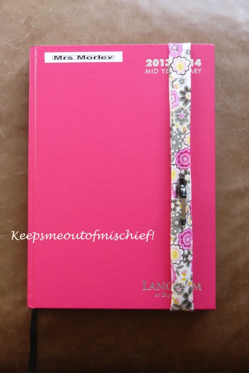 Diary Pen Holder