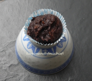 Banana, chocolate and peanut butter muffins