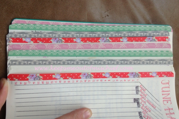 Top 5 Bujo Hacks Monthly washi tape